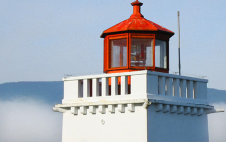 The Brockton Point Lighthouse in Stanley Park, Vancouver, B.C.