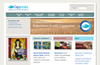 [Capgemini's new home page]
