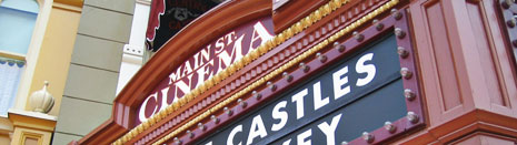 Title image for the Disney Signage photo gallery featuring the Main Street Cinema